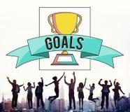 Gens d'affaires d'accomplissement de succès de concept sautant de célébration images stock