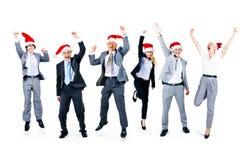 Gens d'affaires d'amitié de célébration de concept de Noël Photo stock