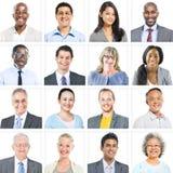 Gens d'affaires d'ensemble d'entreprise de concept de visages Photographie stock libre de droits