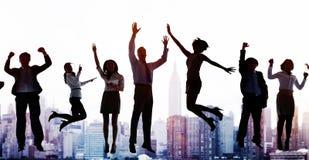 Gens d'affaires d'excitation Victory Achievement Concept de succès photos stock