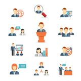 Gens d'affaires d'icônes de vecteur Images libres de droits