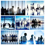 Gens d'affaires d'interaction rencontrant Team Working Global Concept image stock