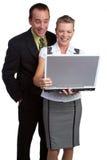 Gens d'affaires d'ordinateur portatif Images stock