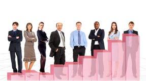 Gens d'affaires d'équipe et tableau Photo stock