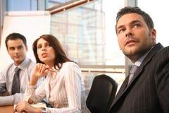 gens d'affaires dans l'action Photographie stock