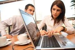 Gens d'affaires dans l'action. photos stock