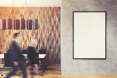 Gens d'affaires dans le lobby de bureau, mur de diamant Image libre de droits