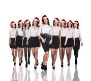 Gens d'affaires dans un chapeau de Noël Image stock