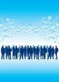 Gens d'affaires dans une foule Photographie stock libre de droits