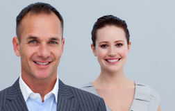 Gens d'affaires dans une ligne Photo libre de droits