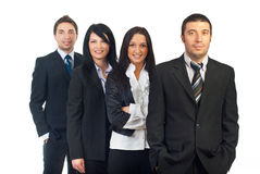 Gens d'affaires dans une ligne Photographie stock
