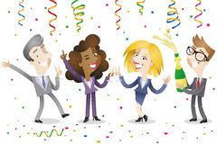 Gens d'affaires de célébration Image stock