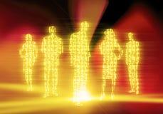 Gens d'affaires de code binaire Images libres de droits