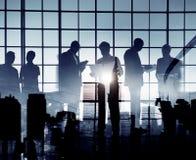 Gens d'affaires de collègues d'entreprise de communication professionnels images libres de droits