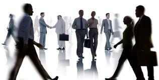 Gens d'affaires de collègues de travail d'équipe de réunion de conférence de séminaire illustration stock