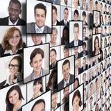 Gens d'affaires de collage images stock