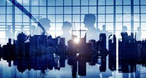 Gens d'affaires de communication corporate de concept de discussion image libre de droits