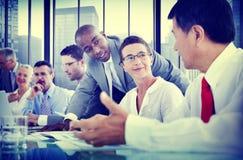 Gens d'affaires de communication corporate de concept de réunion photo libre de droits