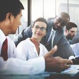 Gens d'affaires de communication corporate de concept de réunion images stock