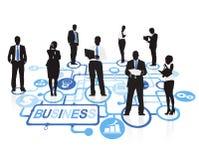 Gens d'affaires de concept d'entreprise de connexion illustration de vecteur