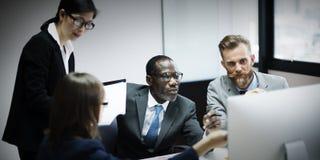 Gens d'affaires de concept de communication corporate photo libre de droits