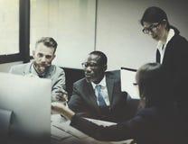 Gens d'affaires de concept de communication corporate image libre de droits