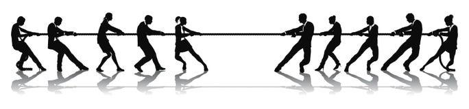 Gens d'affaires de concurrence de conflit illustration stock
