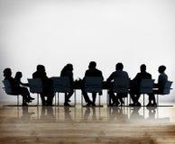 Gens d'affaires de conférence de réunion de concept de discussion Images libres de droits