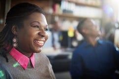 Gens d'affaires de coupure de temps de concept de sourire de relaxation Photographie stock libre de droits