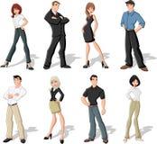 gens d'affaires de dessin animé Images stock