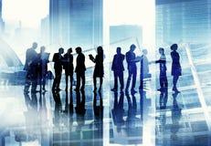 Gens d'affaires de discussion rencontrant Team Corporate Concept photographie stock