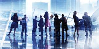 Gens d'affaires de discussion rencontrant Team Corporate Concept Photos libres de droits