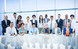 Gens d'affaires de diversité Team Corporate Professional Concept photos stock