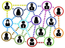 Gens d'affaires de filet de communication Photo stock