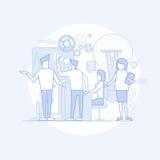 Gens d'affaires de groupe de procédé Flip Chart Finance, hommes d'affaires Team Training Meeting de séance de réflexion Images stock