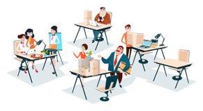 Gens d'affaires de groupe Team Workplace Office Teamwork illustration stock