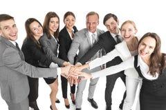 Gens d'affaires de mains jointives Images libres de droits