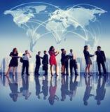 Gens d'affaires de New York de concepts globaux de réunion photos libres de droits