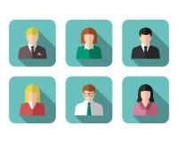 Gens d'affaires de photo de profil et ensemble d'icône Photographie stock libre de droits