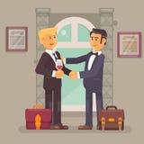 Gens d'affaires de poignée de main d'association d'affaires pour s'occuper le succès Images stock