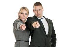 Gens d'affaires de pointage Photo libre de droits