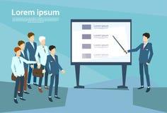 Gens d'affaires de présentation Flip Chart Finance, Team Training Conference Meeting de groupe Images stock