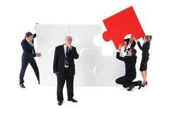 gens d'affaires de puzzle photographie stock libre de droits