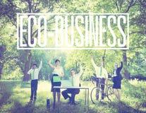 Gens d'affaires de réussite commerciale de concept vert dehors illustration libre de droits