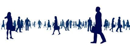 Gens d'affaires de Sihouette illustration stock