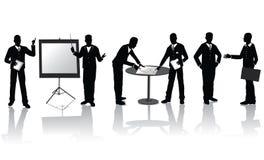 Gens d'affaires de silhouettes Photo libre de droits
