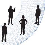 Gens d'affaires de silhouettes illustration de vecteur