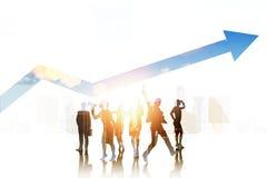 Gens d'affaires de silhouettes Images libres de droits