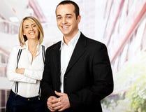 Gens d'affaires de sourire Image stock