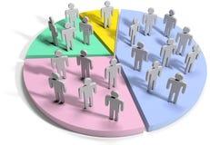 Gens d'affaires de statistiques de données financières Photo libre de droits
